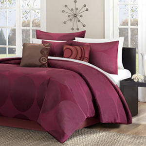 Alto 7-Piece Comforter Set - Various Sizes (Red)