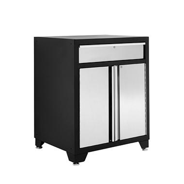 NewAge Products Pro Stainless Steel Two Door Base Cabinet with One Drawer