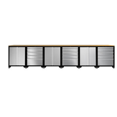 NewAge Pro Stainless Steel Series Credenza Set - 9 pc.
