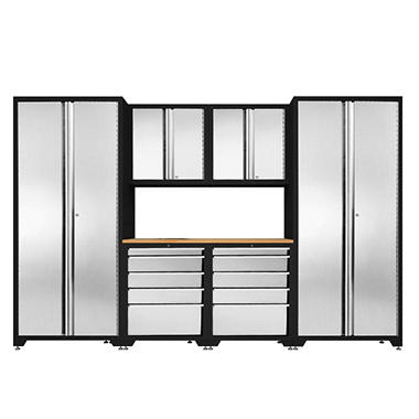 NewAge Products Pro Stainless Steel Set with Tool Cabinet - 7 pcs.