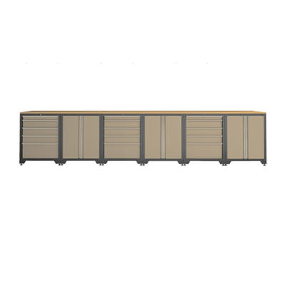 NewAge Pro Series Credenza Set - Taupe - 9 pc.