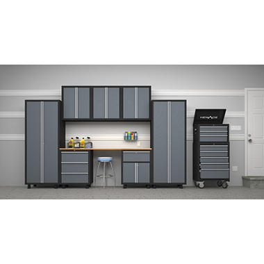 NewAge Bold Series 9 pc. Ultimate Garage Kit-Gray