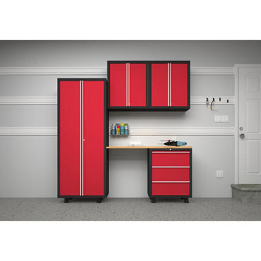 NewAge Bold Series 5 pc. Cabinet Set - Red