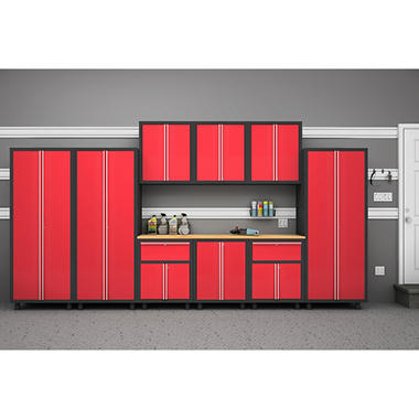 NewAge Products Bold Series 10 Piece Cabinet Set - Red
