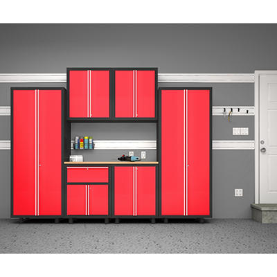 NewAge Products Bold Series 7 Piece Cabinet Set - Red