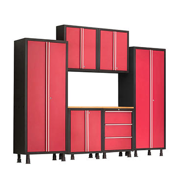 NewAge Products Bold Series 7-Piece Cabinet Set, Red