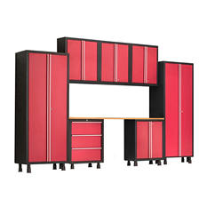 NewAge Products Bold Series 8 Piece Cabinet Set - Red