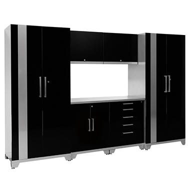 Performance Plus 7 pc. Metal Cabinet Set, Black or Blue