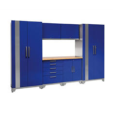 NewAge Products Performance Plus 7-pc. Welded Steel Cabinet Set (Blue)
