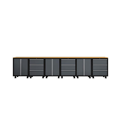 NewAge Bold Series Credenza Set - Red - 9 pc.