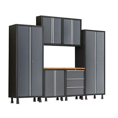 NewAge Products Bold Series 7-Piece Cabinet Set, Gray