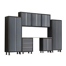 NewAge Products Bold Series 8 Piece Cabinet Set - Gray