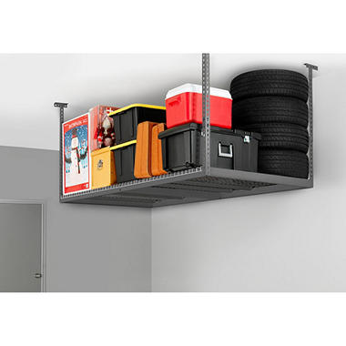 Performance Series VersaRac 4' x 8' Adjustable Ceiling Storage Rack - Gray or White