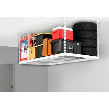 Performance Series VersaRac 4' x 8' Adjustable Ceiling Storage Rack - Gray or White