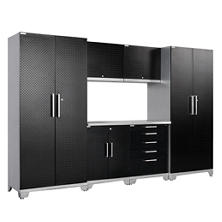 NewAge Products Performance Plus Diamond Series 7 Piece Cabinet Set - Black