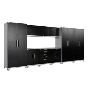 NewAge Products Performance Plus Diamond Series 10 Piece Cabinet Set - Black