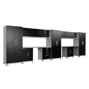 NewAge Products Performance Plus Diamond Series 14 Piece Cabinet Set - Black