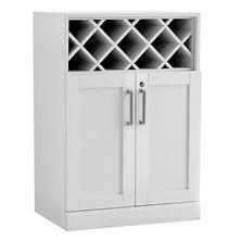 NewAge Products Home Bar Wine-Storage Base Cabinet (White)