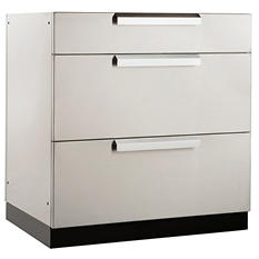 """NewAge Products Outdoor Kitchen 32"""" Stainless Steel Classic 3-Drawer Cabinet"""