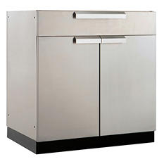 """NewAge Products Outdoor Kitchen 32"""" Stainless Steel Bar Cabinet"""