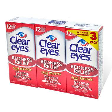 Clear Eyes Eye Drops - 0.5 oz. - 3 pk.