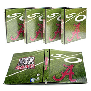 "Alabama Crimson Tide 1"" College Binders, 4pk."