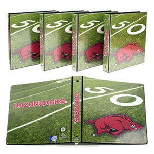 "Arkansas Razorbacks 1"" College Binders, 4pk."