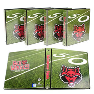 "Arkansas State Wolves 1"" College Binders, 4pk."