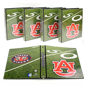 "Auburn Tigers 1"" College Binders, 4pk."