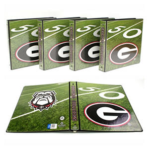 "Georgia Bulldogs 1"" College Binders, 4pk."