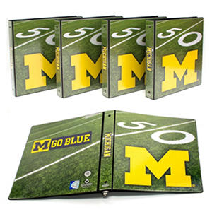 "Michigan Wolverines 1"" College Binders, 4pk."