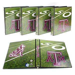 "NCAA Team 1"" College Binders, 4pk ( Select Team)"
