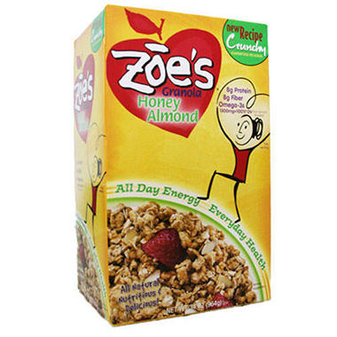 Zoe's® Honey Almond Granola - 2/17 oz. bags