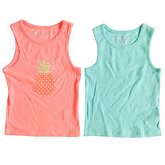 2-Pack Tank Tops with Pointelle and Sequins