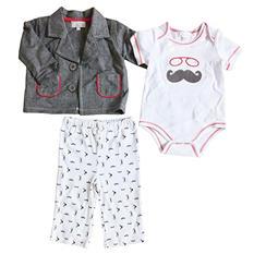 Quiltex Baby Mustache 3 Piece Set