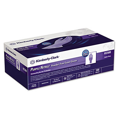 Kimberly-Clark Professional* - PURPLE NITRILE Exam Gloves, Small, Purple -  100/Box