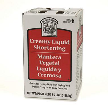 Bakers & Chefs Creamy Liquid Shortening - 35 lbs.