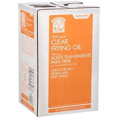 Bakers & Chefs Clear Frying Oil (35 lbs.)
