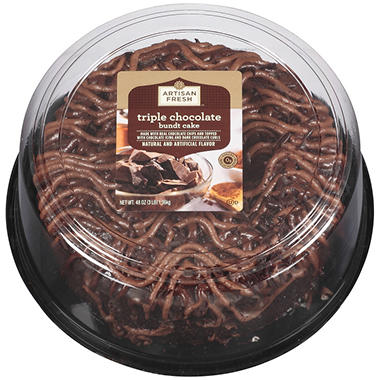 Artisan Fresh Triple Chocolate Bundt Cake - 48 oz.