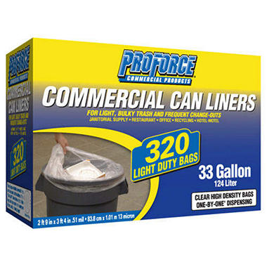 ProForce Commercial Can Liners - 33 gal - 320 ct.