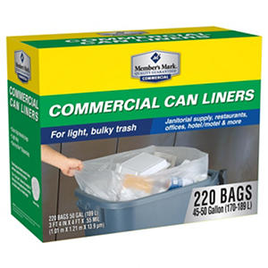 Member's Mark Commercial Trash Bags (45-50 gal., 220 ct.)