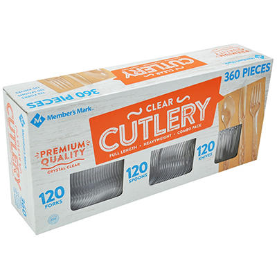 Daily Chef Clear Cutlery Combo Pack (360 ct.).