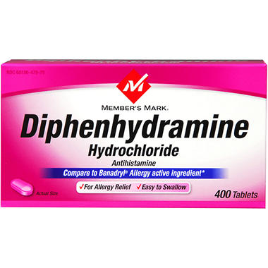 Member's Mark® Diphenhydramine - 400ct