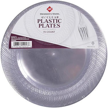 "Member's Mark - 6 1/4"" Clear Plates - 70 ct."
