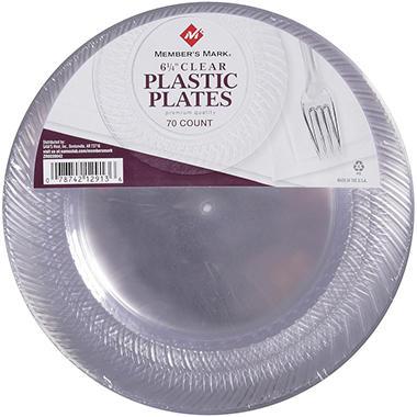 Member's Mark Plastic Plates, 6 1/4