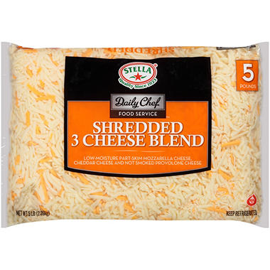 Bakers & Chefs Shredded 3 Cheese Blend - 5 lbs.