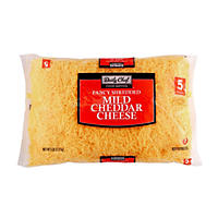 Daily Chef Fancy Mild Cheddar Shredded Cheese - 5 lbs.