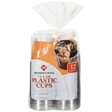 Member's Mark� Clear Plastic Cups - 12 oz. / 140 ct.