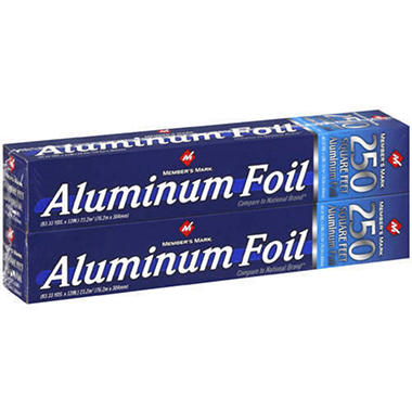 Member's Mark® Aluminum Foil - 2/250 sq. ft.