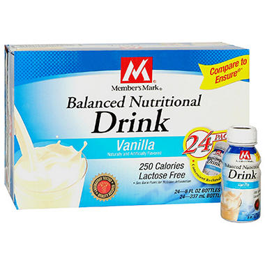 Member's Mark� Nutritional Shake -Vanilla - 24/8 oz. bottles